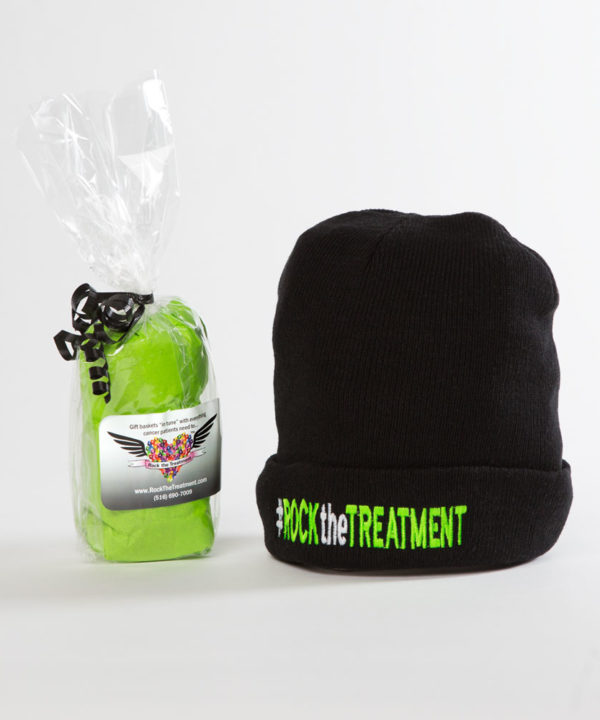 RTT beanie   Ideas for gifts for cancer patients   Rock the Treatment