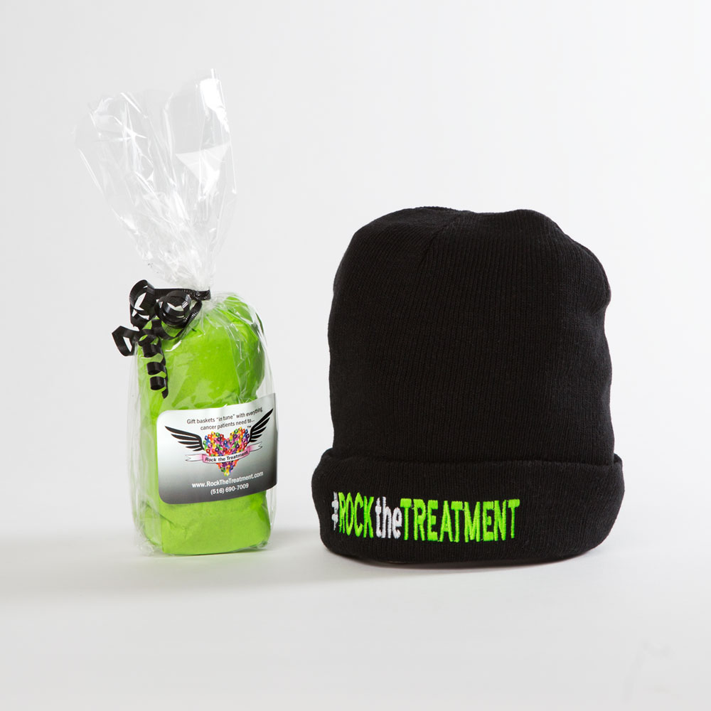 RTT beanie | Ideas for gifts for cancer patients | Rock the Treatment