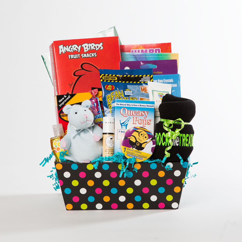 boys large basket | thoughtful gifts for cancer patients | Rock the Treatment