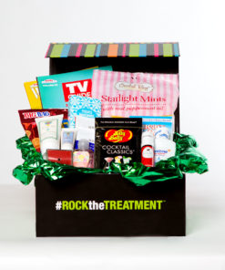 women's small chemo basket | thoughtful gifts for chemo patients | Rock the Treatment